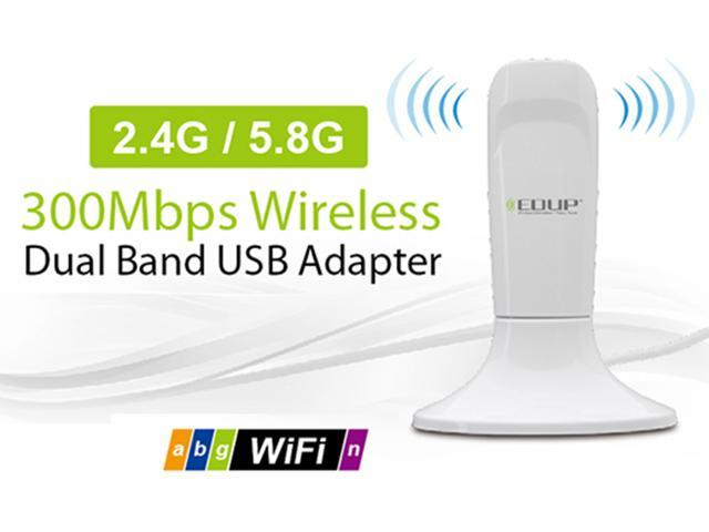 EDUP Dual Band 2.4G / 5.8G Mini Client / AP 300M 300Mbps USB WiFi Wireless N LAN Network Adapter 802.11 n/g/b EP-DB1305