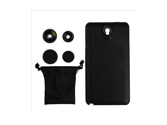 180 Fisheye Wide Macro Case Cover for Samsung Galaxy Note 3 N9000 Black DC445
