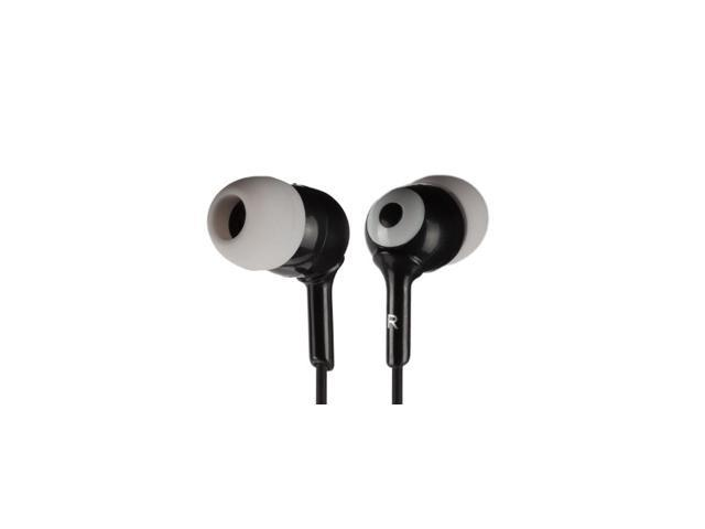 Griffin Black / Grey Caps Earbuds - 3 Sizes Simple noise-isolating in-ear headphones