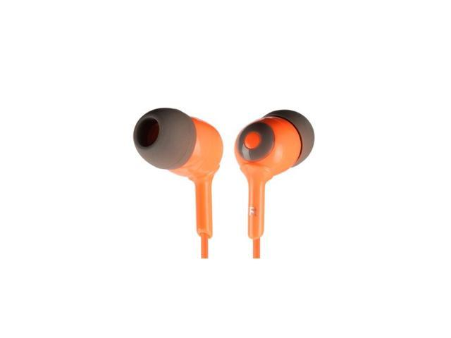 Griffin Orange / Brown Caps Earbuds- 3 Sizes Simple noise-isolating in-ear headphones