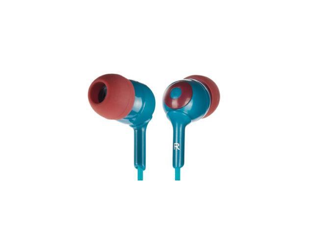 Griffin Blue / Burgandy Caps Earbuds -3 Sizes Simple noise-isolating in-ear headphones