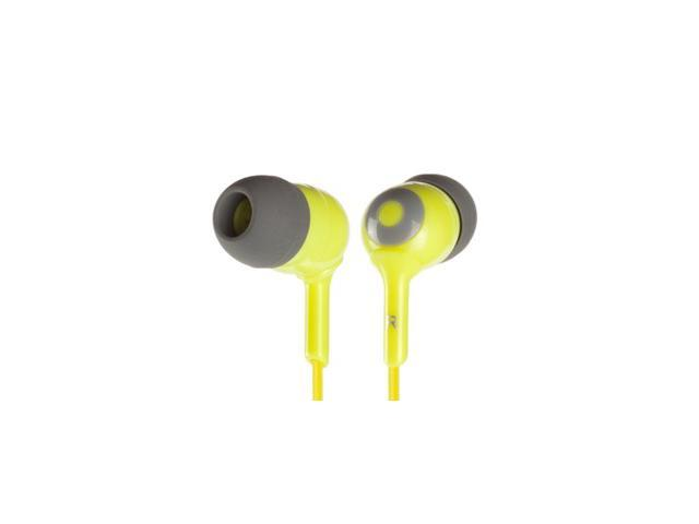 Griffin Yellow / Grey Caps Earbuds- 3 Sizes Simple noise-isolating in-ear headphones