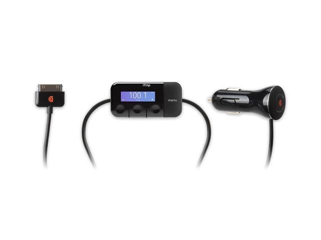 Griffin iTrip Auto Charger/FM Transmitter for iPod touch or iPhone FM transmitter and car charger with optional Aha app
