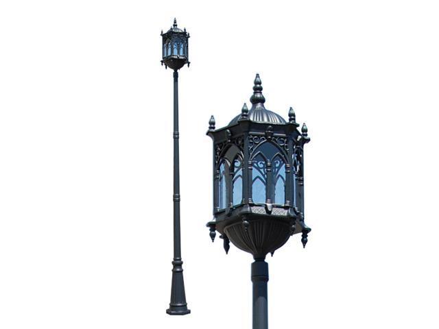 eTopLighting 126 inch Tall Outdoor Pole Post Lighting Light Fixtures, Deluxe Matt Black, Aluminum Die-Cast