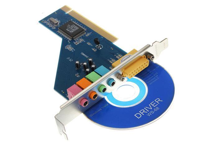 4-Channel C-Media 3D Audio Stereo Internal PCI Sound Card for Win 7 Vista