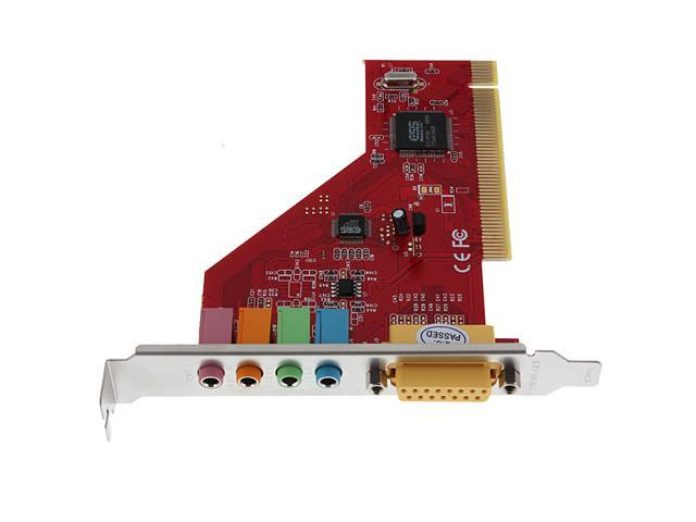 CS4614 3D 4 Channel Audio Internal PC PCI Sound Card with Game Midi Port Windows 95 98 ME 2000 XP VISTA Win7