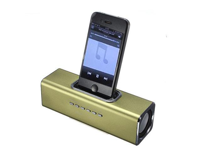 Mini Speaker Music Player 30 Pin Dock USB 2.0 TF SD Card FM Radio for iPhone 4S iPod