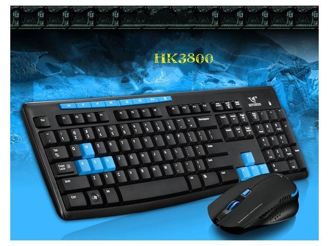 Ergonomically RUYI Bird HK3800 2.4G Wireless Keyboard game gaming Mouse mice Set USB Receiver pc laptop 800/1200/1600 DPI