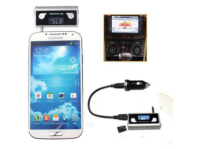 3.5mm+30-Pin Car Wireless Handsfree FM Transmitter TF MP3 MP4 for iPhone 4S 5S 5C iPod 3G / 3GS / 4 sumsung
