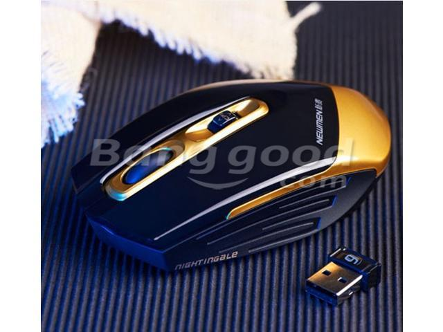 Newmen 600 2.4G 1000/1500/3000DPI 4 keys Optical Wireless Game Gaming Mouse for pc laptop