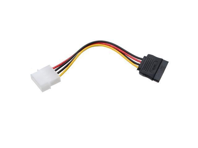 4 Pin Molex IDE to 15 Pin Serial ATA SATA Hard Drive Power Cable