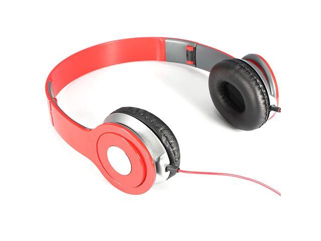 NEW ! 3.5mm Foldable Stereo Headset Headphone Over-Ear Earphone for Laptop Desktop Mac PC MP3/4 DJ iPhone iPad Samsung Galaxy HTC