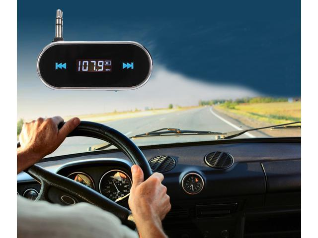 Wireless 3.5mm Car Audio Radio LCD FM Transmitter For iPhone 5 5S iPod Touch MP3 player