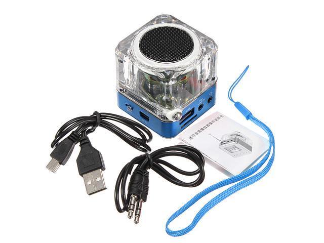 Mini 3.5mm USB LCD LED SD/TF Music Player Speaker FM Radio for iPhone 5S SAMSUNG galaxy note 2 3 MP3 MP4 pc laptop