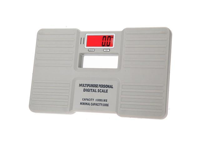 Portable Personal Digital Electronic Body Weight Scale Health Fitness Fat Bathroom 150 X 0.1KG White
