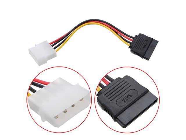 2X 4 Pin IDE Molex to 15 Pin Serial ATA SATA Hard Drive Power Cable