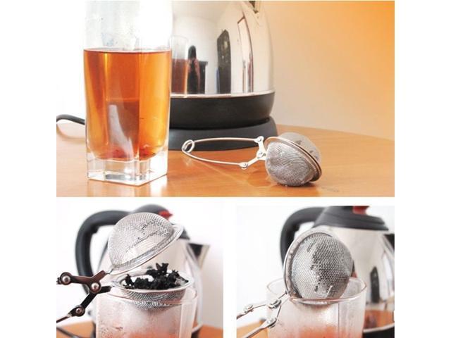 Stainless Steel Herb Tea Strainer Spring Mesh Ball Enclosure