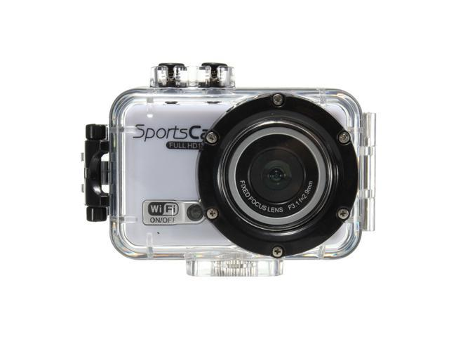 F39 WiFi 5.0MP Full HD 1080P Underwater Waterproof Action Sports Helmet CAM DV Camera DVR Camera 120 Degree Viewing Angle-White