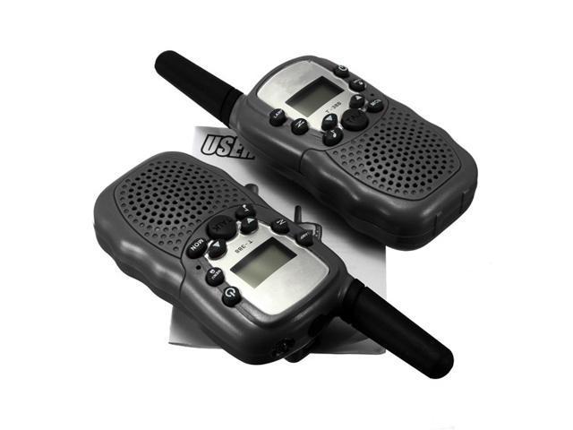 2Pcs Portable VOX Indication Wireless LCD 5KM UHF Auto Multi Channels 2-Way Radio Walkie Talkie T-388