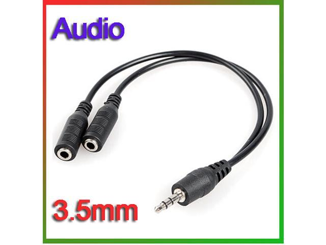 Details about 3.5mm 1/8 Male To 2 Dual Female Earphone Headphone stereo Audio Y Splitter Cable