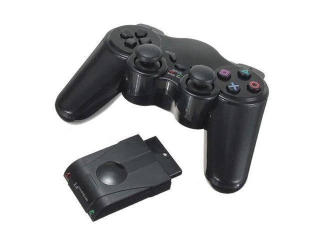 New Black 2.4GHz Replacement Wireless Gamed Joypad Game Pad Controller for Sony Playstation 2 PS2 PSII with Wireless Controller Receiver