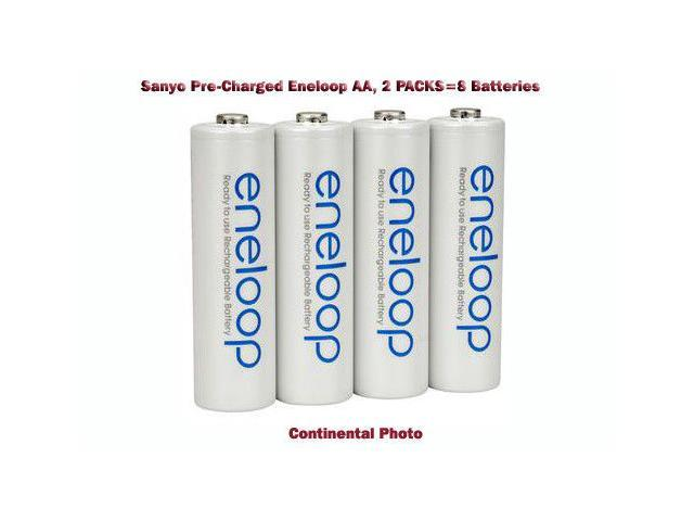 Sanyo Eneloop AA-8 Pre-Charged,Rechargeable Battery