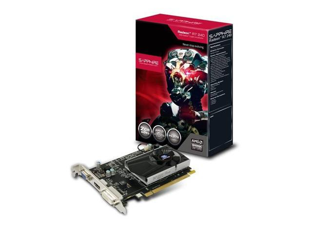 Sapphire AMD Radeon R7 240 2GB DDR3 VGA/DVI/HDMI PCI-Express Video Card w/ Boost