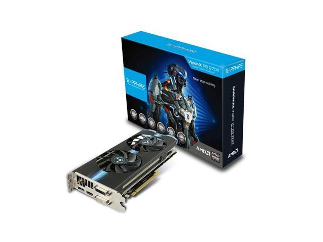 Sapphire VAPOR-X AMD Radeon R9 270X OC 2GB GDDR5 2DVI/HDMI/DisplayPort PCI-Express Video Card w/ Boost