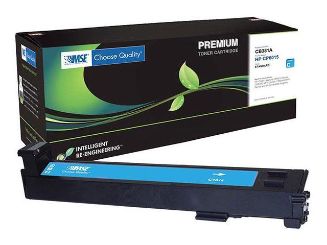 MSE 02-21-81114 Toner Cartridge (OEM # HP CB381A,824A) 21,000 Page Yield; Cyan