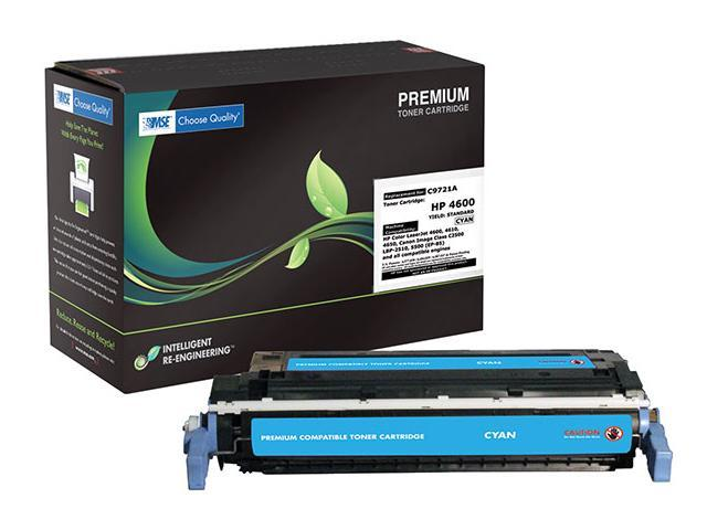 MSE 02-21-2114 Toner Cartridge (OEM # HP C9721A, 641A) 8,000 Page Yield;Cyan