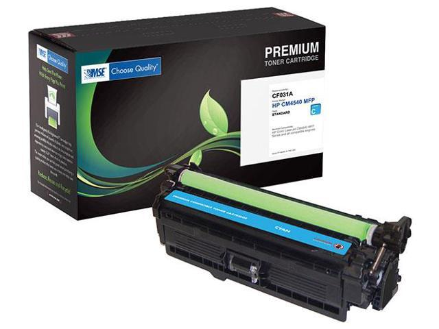 MSE 02-21-540114 Toner Cartridge (OEM # HP CF031A,646A) 12,500 Page Yield; Cyan