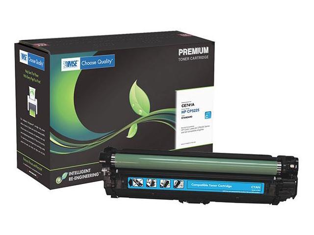 compatibles-500 Series 500-CE741A Cyan Toner Cartridge (OEM # HP CE741A, 307A) 7,300 Page Yield