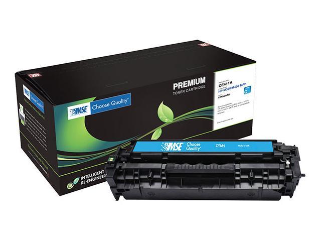 MSE 02-21-41114 Toner Cartridge (OEM # HP CE411A,305A) 2,600 Page Yield; Cyan