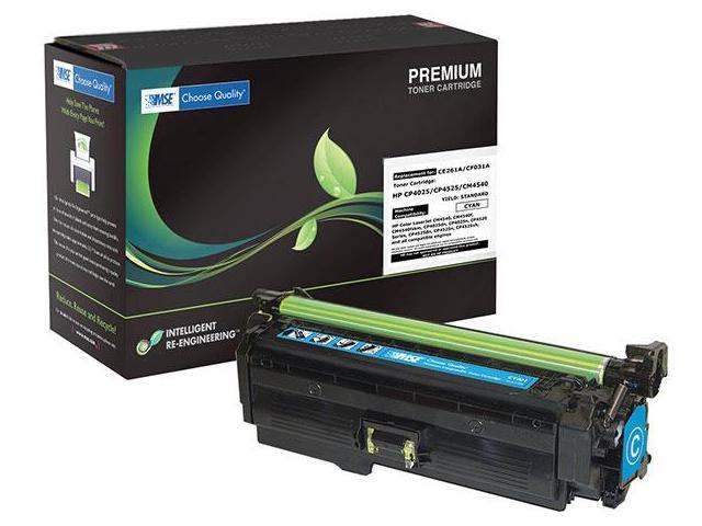 MSE 02-21-450114 Toner Cartridge (OEM # HP CE261A,648A) 11,000 Page Yield; Cyan