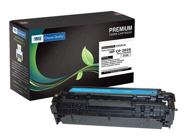 MSE 02-21-53114 Toner Cartridge (OEM # HP CC531A,304A) 2,800 Page Yield; Cyan