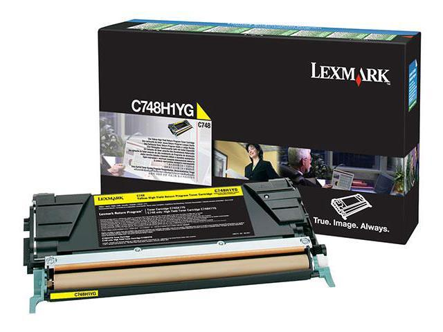 Lexmark C748 (C748H1YG) High Yield Return Program Toner Cartridge, Yellow