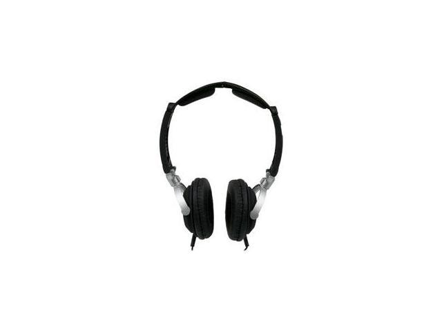 MobileSpec MS60BL Lightweight Folding Stereo Headphones Black