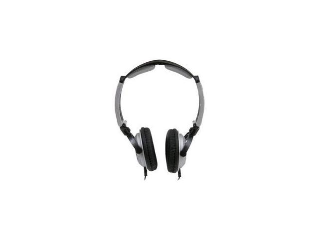 MobileSpec MS60BS Lightweight Folding Stereo Headphones Silver- Black