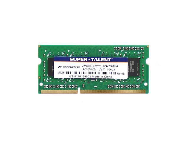 Super Talent Ddr3-1066 Sodimm 2Gb/256X8 Notebook Memory