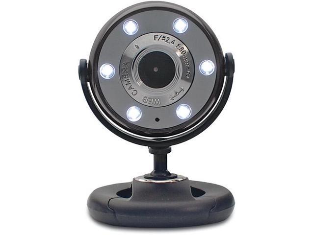 WC1300BLK-CP10 Piano Black/Black 1.3MP WebCam With Night Vision