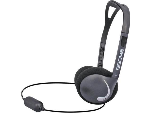 RECOVERY-BLK Black Ultra-lightweight Headphones with Folding Design