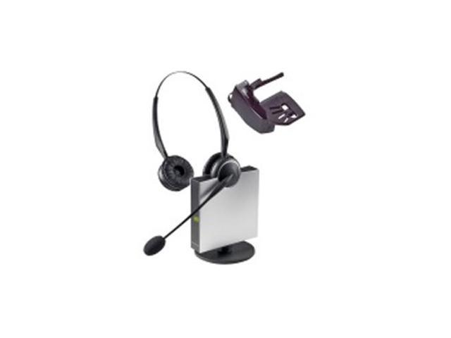 9129-808-215 Wireless Flexboom Duo Headset with Noise Canceling Microphone