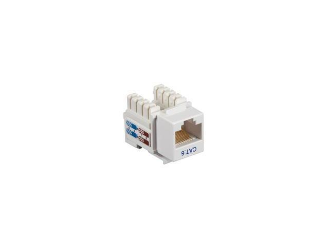 CAT6 Value Line Keystone Jack, White