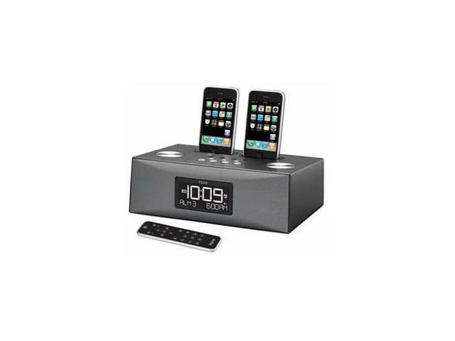 Dual Dock Triple Alarm Clock Radio