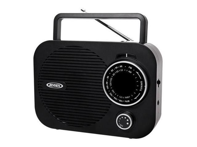 Portable AM/FM radio (Black) w/ Aux jack