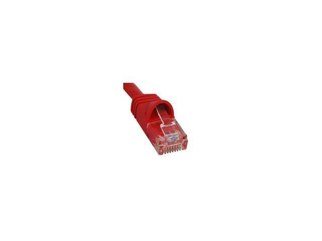 PATCH CORD, CAT 6, MOLDED BOOT, 10' RED