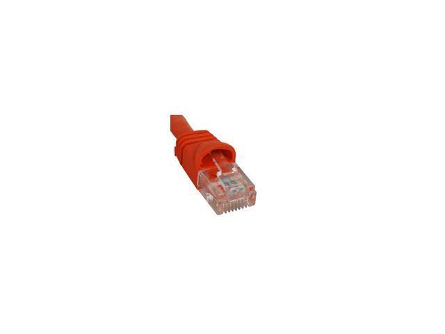 PATCH CORD, CAT 6, MOLDED BOOT, 14' ORANGE