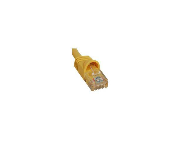 PATCH CORD, CAT 6, MOLDED BOOT, 14' YELLOW