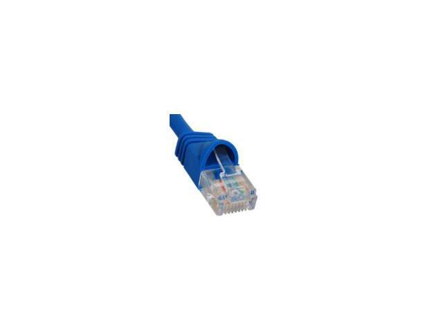 PATCH CORD, CAT 5e, MOLDED BOOT, 1' BLUE