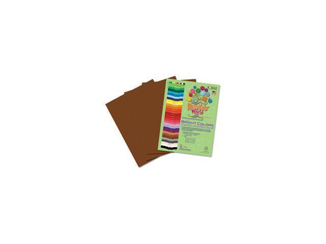 Premium Sulphite Construction Paper, 76 lbs., 9 x 12, Dark Brown, 50/P